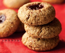 Almond-Jam Thumbprint Cookies