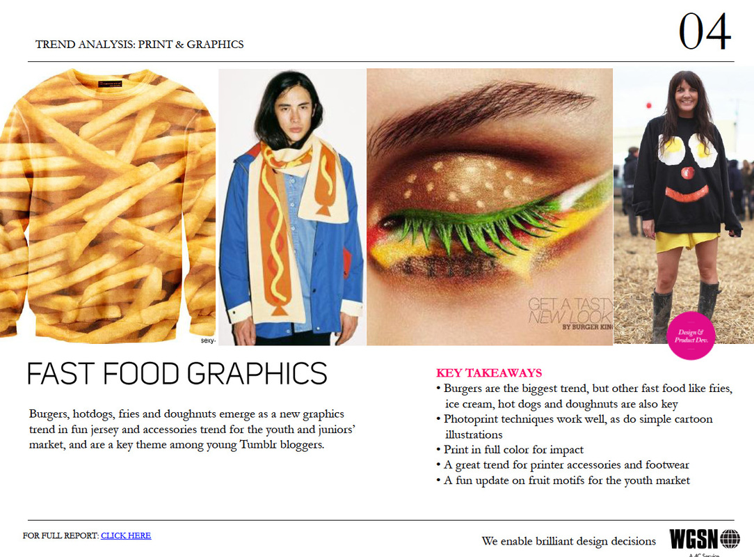 WGSN FAST FOOD GRAPHICS!
